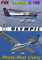 FSXA Cessna 150 C/F Aerobat Olympic Photoreal Package.