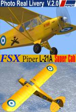 FSX/P3D3 Piper PA L-21A Super Cub upgraded V.2.0