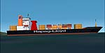 FS2000-2002                     Static airport API macros. Hapag Lloyd Container ship 220mt                     long.