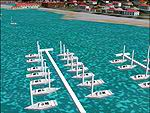 FS2000-2002                     Static airport API macros. 1200 ft long Marina. Night illuminated                     yachts