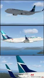 FSX Westjet Boeing 737-800 Textures