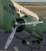 FS2004                   Douglas DC-3 default White propeller tips update