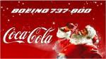 Boeing 737-800 Coca Cola Christmas Textures