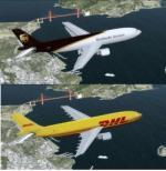 FSX/P3D Airbus A300B4-600R DHL/UPS twin pack