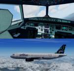 FSX/P3D Airbus A320 updated model and VC