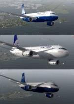 FSX/P3D (up to v4+) Airbus A320-200 United 3 livery package