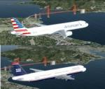 FSX/P3D Airbus A321-200 American Airlines 2 livery Package
