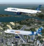 FSX/P3D Airbus A320-200 JetBlue twin pack 2