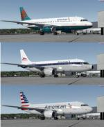 FSX/P3D Airbus A319-100 American Airlines 5 heritage livery Package