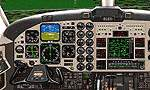 Beechcraft                   Super King Air 350 Panel for FS98