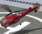 FS2004                   GMAX Alouette III Securite Civile Textures only