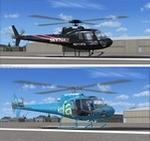 "AS350 Squirrel KTLA-TV 5 Los Angeles and KTTV-TV Fox 11 Los Angeles ""SkyFox""  twin pack"