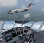 FSX Boeing 717-200 package with new glass cockpit