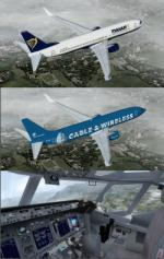 FSX/P3D Boeing 737-800 Ryanair 5 livery package
