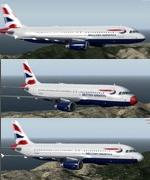 FSX/P3D Airbus A320-232 British Airways 3 pack