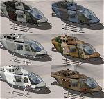 FSX Bell Jetranger Camouflage Schemes