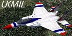 FS2004                   USAF F-15B Eagle Bicentennial scheme - 71-0291 Textures only