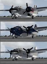 FSX/P3D  Grumman C-1 Trader 3 Livery Package