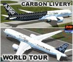 "Airbus A350-900 XWB ""Carbon Livery"" ""World Tour"""