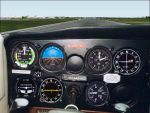FS2000                   Close-up Cessna panel.
