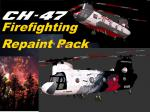 P3D/FSX CH-47D Firefighting Operators textures Pack