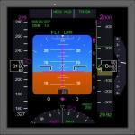 FSX 777 style PFD, Nav, EICAS and Chart