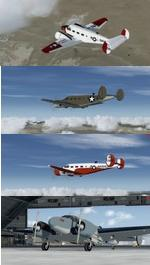 P3D V3 and FSXA Beechcraft D-18 4 livery package