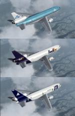 FSX/P3D McDonnell Douglas DC-10-30 Multi Livery package 1