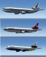 P3d FSX McDonnell Douglas DC-10-30 5 livery pack 3