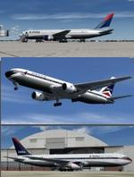 P3D/FSX Boeing 767-300ER Delta Airlines 3 livery package