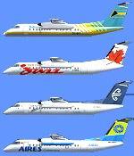 FSX                   De Havilland DHC8-Q311 Four Aircraft Package