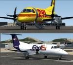FSX/P3D 3/4 Embraer EMB-120 DHL and Fedex twin package