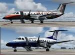 FSX/P3D 3/4 Embraer EMB-120 'Skywest Metal' and 'SkyWest' twin package