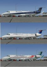 FSX/P3D Embraer ERJ-145 FSX 4 livery pack 1
