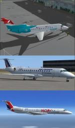 FSX/P3D Embraer ERJ-145 4 livery pack 2