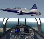 FSX/P3D Northrop F-20 Tigershark  RNAF, Turkish Stars (Aerobatic team) and 'Iris' triple package