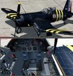 FSX/P3D 3/4 Chance Vought F4U-7 Corsair package