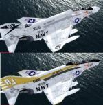 P3D/FSX McDonnell Douglas F-4B Phantom II US Navy 3 livery Package