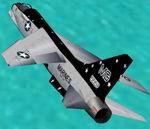 FS2000/CFS2                   Vought F-8E Crusader.