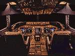Full                   flight deck Boeing 747-400