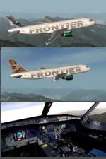 FSX/P3D>v4 Airbus A320-200 Frontier Airlines 4 Livery package