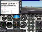 FS2004                   Manual/Checklist -- Default Beech Baron 58