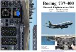 FS2004                   Manual/Checklist -- Default B-737-400.