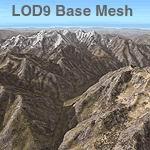 FS2004                   Himalayas LOD9 Base Mesh