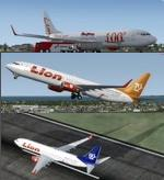 FSX/P3D V3 & 4 Boeing 737-900 Lion Air Group 8 livery package