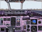 FS2000                     Photo-realistic view of MD80 from 1st officer's view