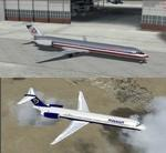 FSX/P3D 3.4 Native McDonnell Douglas MD-80 American Airlines/ Ryanair package