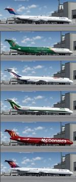 FSX/P3D 3.4 Native McDonnell Douglas MD-80 Series Multipack 2