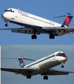 Delta Airlines MD-88  Twin Package
