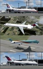 FSX/P3D 3.4 Native McDonnell Douglas MD-90  Multi Package 1